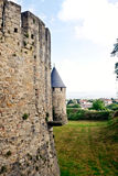 Carcassonne Castle Towers Stock Image