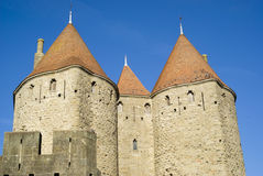 Carcassonne castle towers Royalty Free Stock Photos
