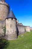 carcassonne ściana obraz stock