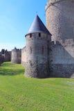 carcassonne ściana fotografia royalty free
