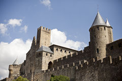 Carcassonne citadel Royalty Free Stock Photos