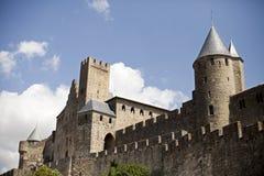 carcassonne citadel royaltyfria foton