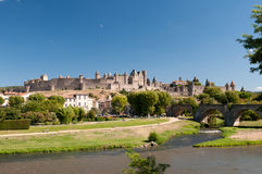 Carcassonne, en France Images libres de droits