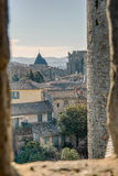 Carcassonne fönster Royaltyfri Foto