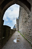 Carcassonne-Festung stockfotos
