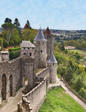 Carcassonne- fortificou a cidade Imagens de Stock Royalty Free