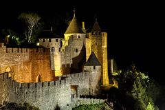 Carcassonne - A fortified French town. France. Carcassonne - A fortified French town in the Aude department, Region of Languedoc-Roussillon, France, Unesco site Royalty Free Stock Photography