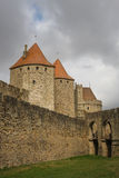 Carcassonne fortress. Entrance to Carcassonne fortress, France Stock Photo