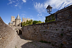 Carcassonne fortress, France. Street of Carcassonne fortress, France, Europe Royalty Free Stock Photos