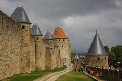 Carcassonne fortress, France Royalty Free Stock Images