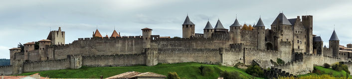 Carcassonne fortress panorama Royalty Free Stock Image