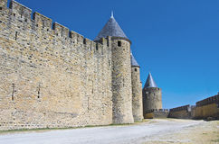Carcassonne. Fortress in the Carcassonne town,France Royalty Free Stock Images