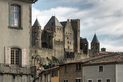 Carcassonne fortress view from old city Royalty Free Stock Image