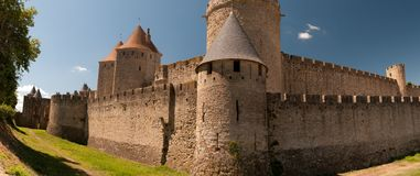 Carcassonne, in France. Panorama of Carcassonne, in France Stock Photo
