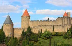 Carcassonne (France). The fortified city of Carcassonne (France Royalty Free Stock Images