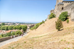 Carcassonne, France Abaissez la ville et la forteresse de la ville supérieure Liste de l'UNESCO Photographie stock