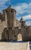 Carcassonne, France. Impregnable ancient fortress, included in the UNESCO list Royalty Free Stock Photo