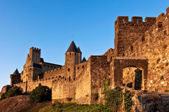Carcassonne, France. Medieval fortress of Carcassonne, France Royalty Free Stock Photography