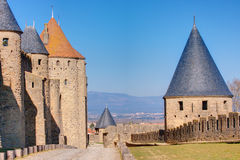Carcassonne, France. The medieval town of Carcassonne, France Stock Photo
