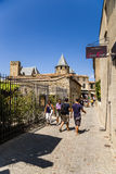 Carcassonne, France. One of the streets of old town Stock Image