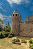 Carcassonne, France. One of the towers of the castle Comtal Royalty Free Stock Images