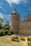 Carcassonne, France. One of the towers of the castle Comtal Stock Image