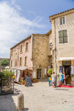 Carcassonne, France. On the streets of the medieval city Royalty Free Stock Photography