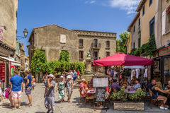 Carcassonne, France. Tourists in the old town Stock Photos