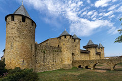 Carcassonne, France, UNESCO. Castle. Castle of Carcassonne, France. Europe. Input from the Cit Stock Photo