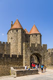 Carcassonne, France. View Narbonne Gate, 1280. UNESCO list Stock Photography