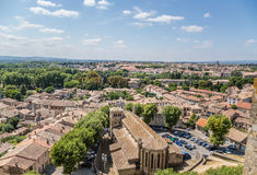 Carcassonne, France. View of old town from the fortress Stock Image