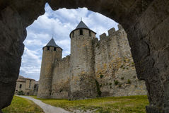 Carcassonne (France), the walls Royalty Free Stock Photography