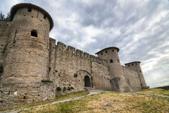 Carcassonne (France), the walls Stock Images