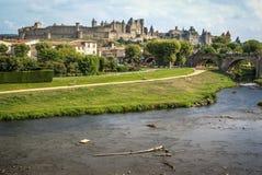 Carcassonne, Francia del sud immagini stock