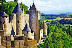 Carcassonne Francja, Languedoc (,) Obrazy Royalty Free
