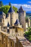Carcassonne Francja, Languedoc (,) Zdjęcia Royalty Free