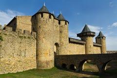 Carcassonne, Frankreich, UNESCO. Schloss Lizenzfreie Stockbilder