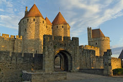 Carcassonne, Frankreich, UNESCO. Schloss Lizenzfreies Stockfoto