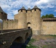 Carcassonne, Frankreich, UNESCO. Schloss Stockbild