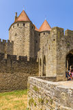Carcassonne, Frankrijk Poort van meningsnarbonne, 1280 Stock Foto