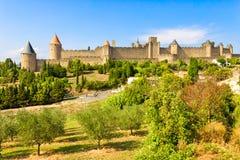 Carcassonne Frankrike Royaltyfri Fotografi