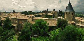 Carcassonne Frankrike Arkivfoto