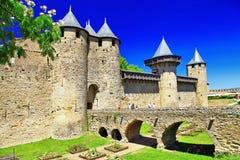 Carcassonne (Frankrike, Languedoc) Royaltyfri Bild