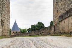 Carcassonne (Frankrike), väggarna Arkivbild