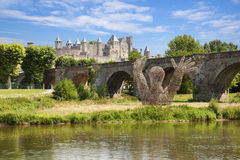carcassonne kasztel Obraz Royalty Free
