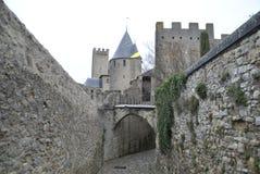 Carcassonne kasztelu widoki Fotografia Stock