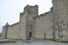 Carcassonne kasztelu widoki Obrazy Royalty Free