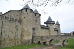 Carcassonne kasztelu widoki Fotografia Royalty Free
