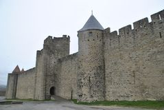Carcassonne kasztelu widoki Obraz Stock