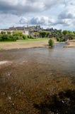 Carcassonne la cite medievale and pont vieux vertical view Royalty Free Stock Image